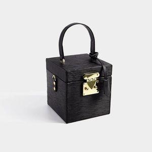 Mini box bag in black